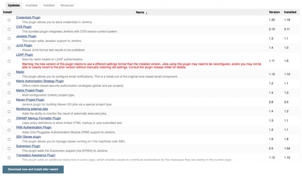 MindApproach GmbH Updating Jenkins plugins